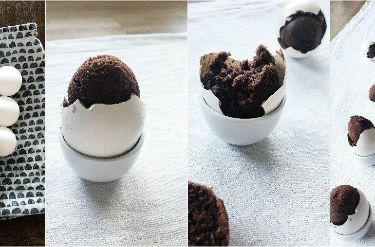 Passend zu Ostern: Kuchen im echten Ei