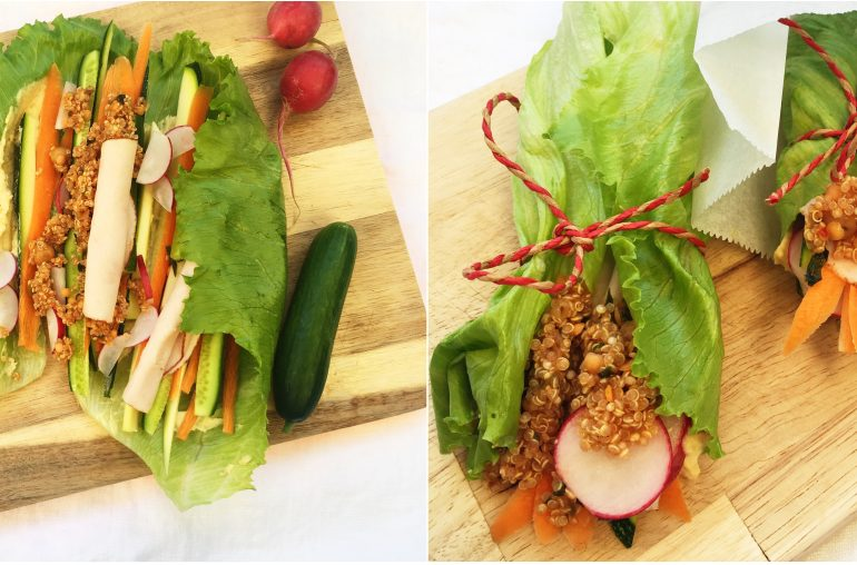 Schnelles Rezept für leckere Salat-Wraps