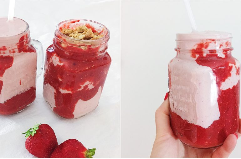 Cheesecake-Shake mit Erdbeeren: Perfekt für den Sommer!