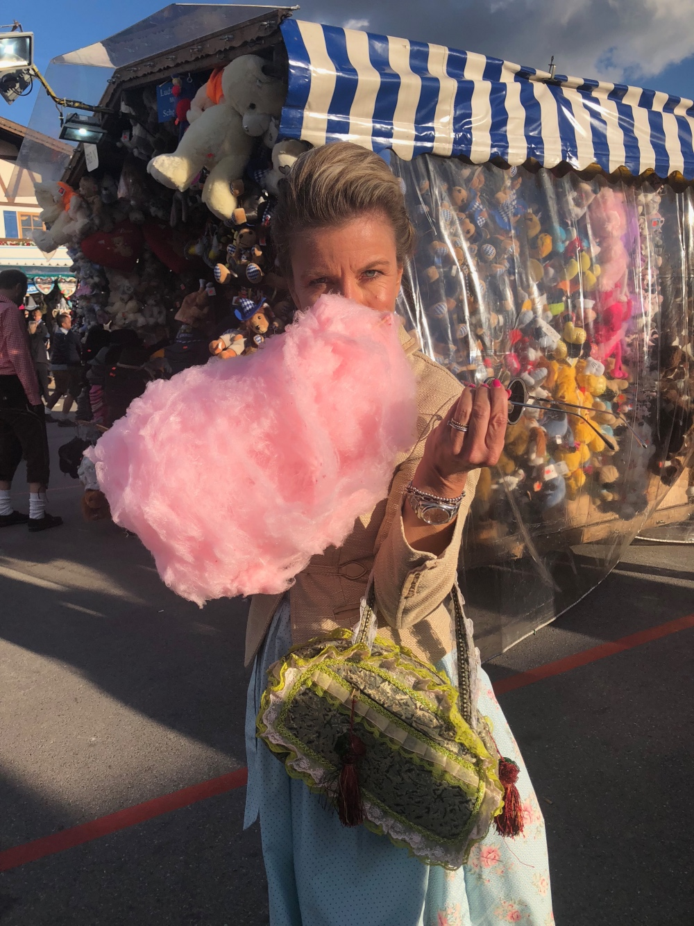 Wiesn-Gaudi: Zuckerwatte