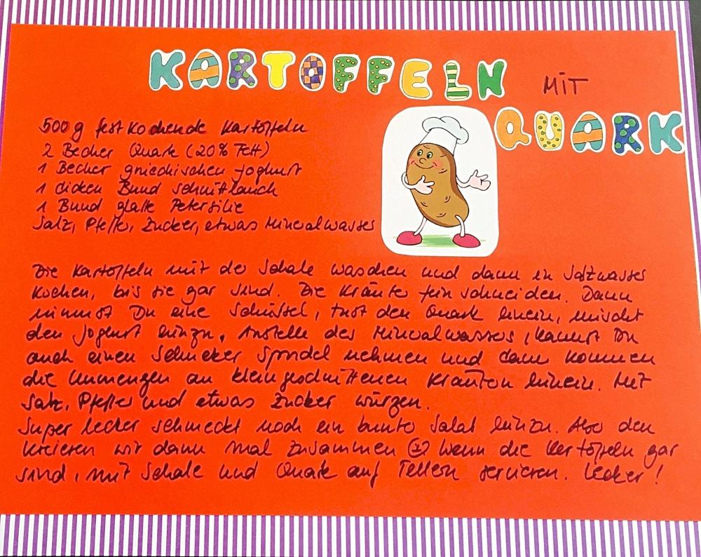 Kinder-Kochbuch: Kartoffeln mit Quark Rezept