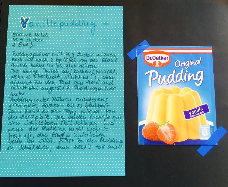 Kinder-Kochbuch: Vanillepudding Rezept