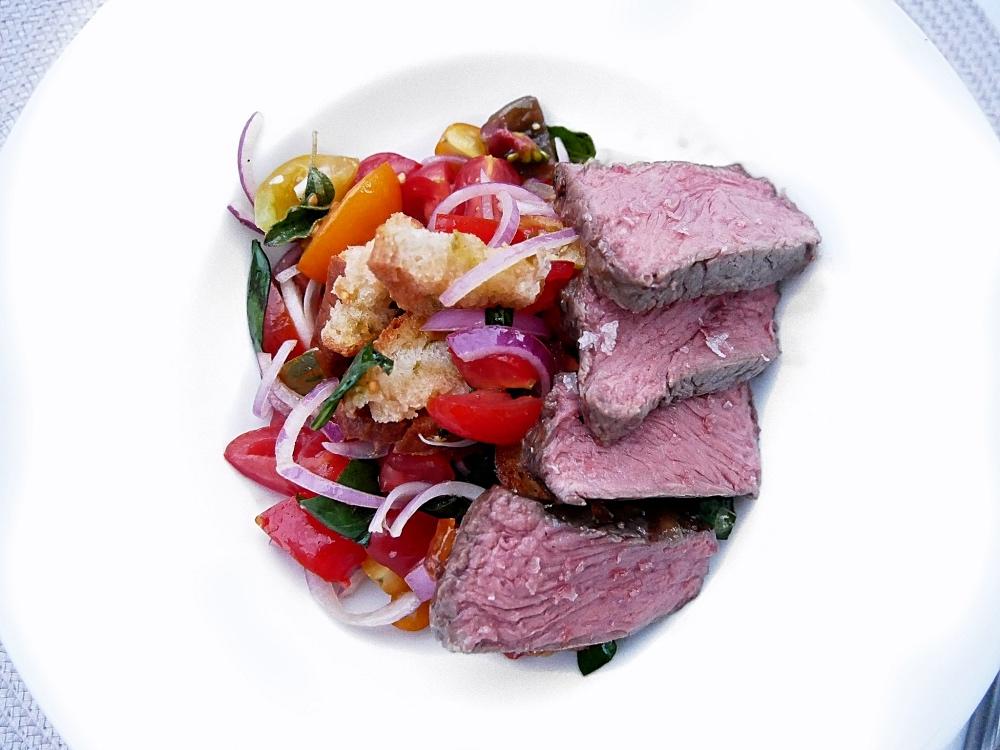 Panzanella mit Roastbeef: Roastbeef nach Niedrigtemperatur