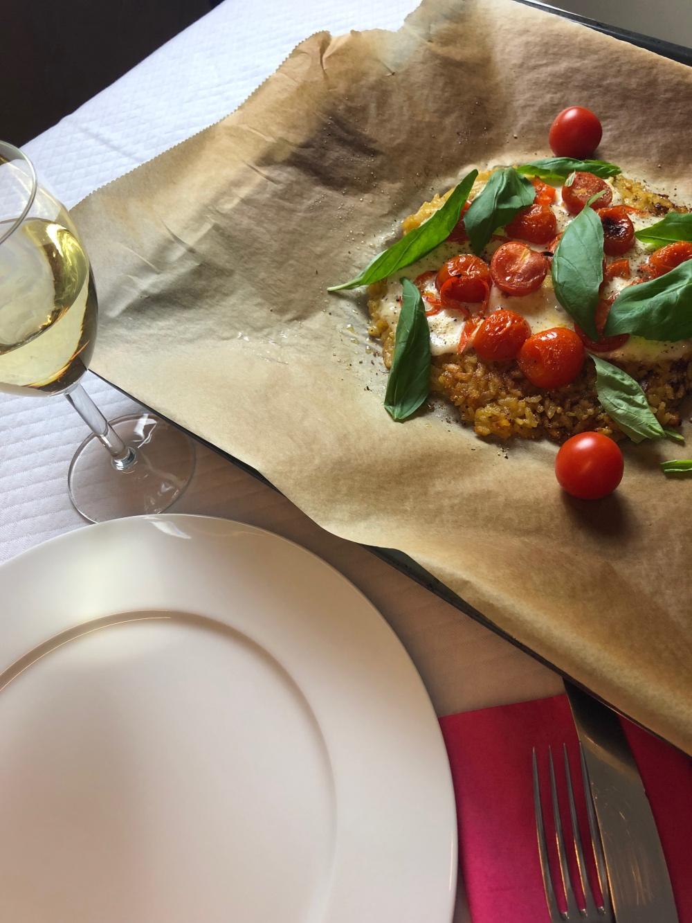 Risotto-Pizza: Einfach das Blech auf den Tisch!