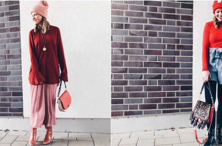 Trendfarbe Rot: 3 Winterlooks zum Nachstylen