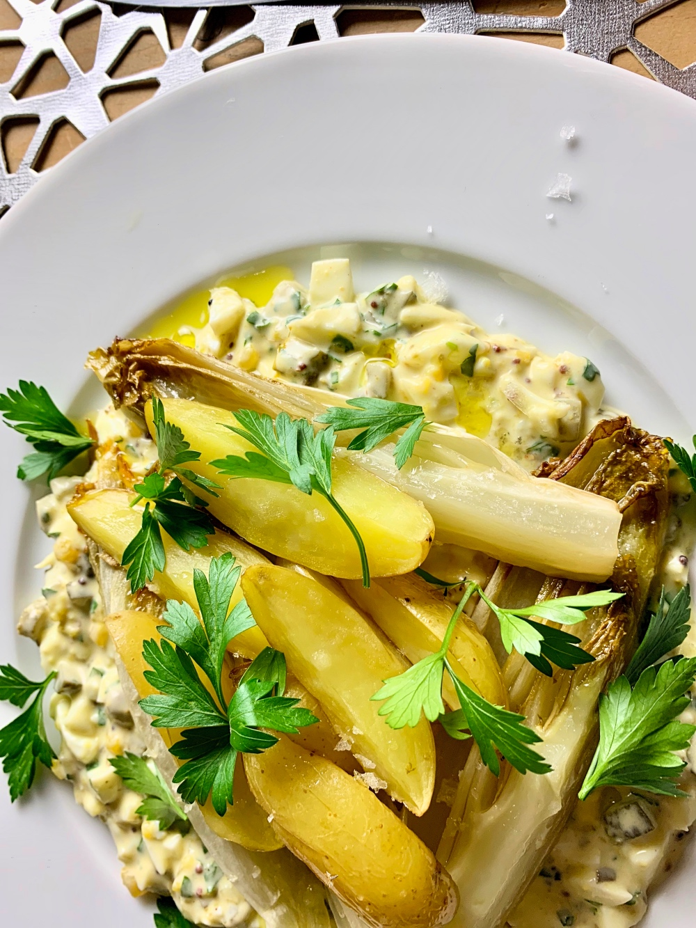 Sauce Gribiche mit Gemüse