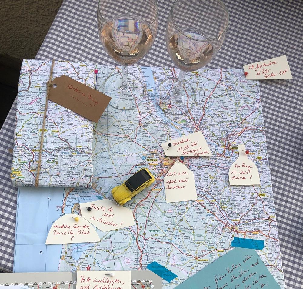 Kurztrip nach Bordeau: Landkarte