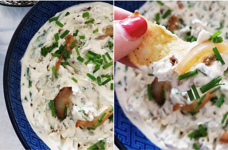French Onion Dip – hausgemacht, cremig, frisch!